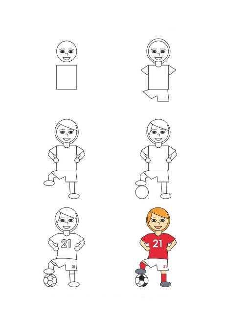 Как нарисовать футбольное поле с игроками ребенку   подборка 001