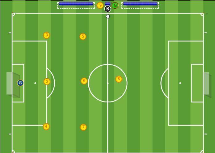 Как нарисовать футбольное поле с игроками ребенку   подборка 010