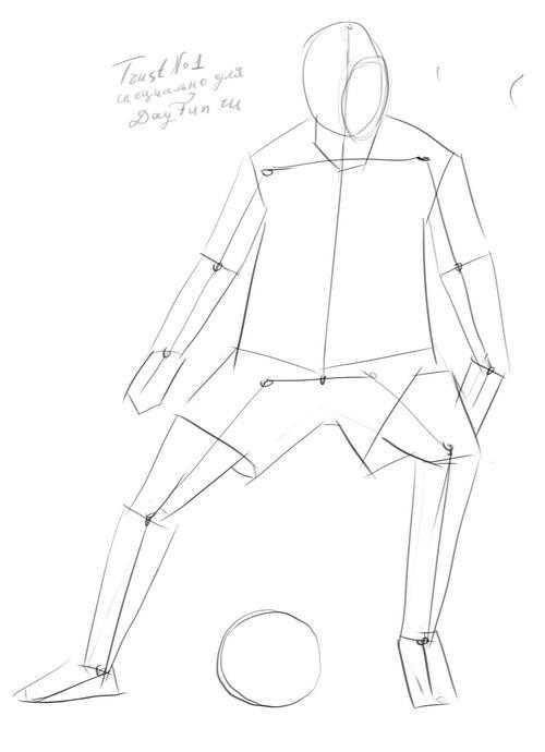 Как нарисовать футбольное поле с игроками ребенку   подборка 023
