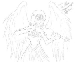 Как поэтапно нарисовать ангелочка карандашом   рисунки 029