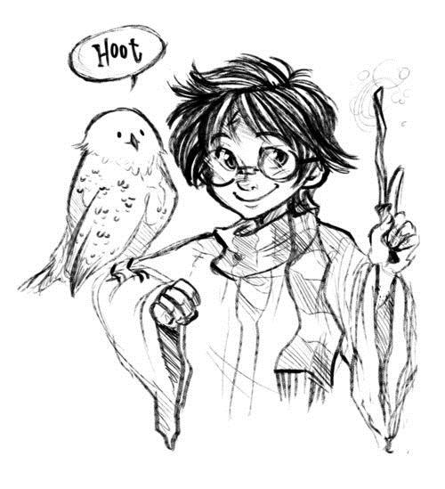 Каритнки Гарри Поттер для срисовки   подборка 027