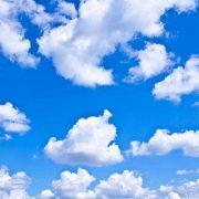 Картина небо с облаками027