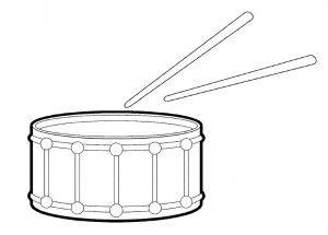 Картинка барабан для детей раскраска 022