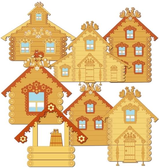 Картинка для детей дом на прозрачном фоне 024