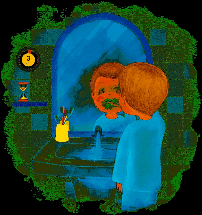 Картинка для детей чистить зубы   фото 005