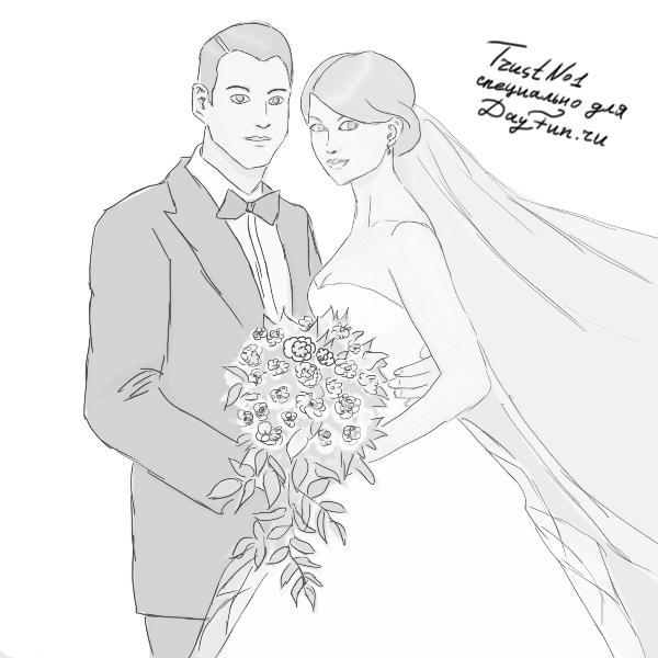 Картинки на годовщину свадьбы нарисовать, вера
