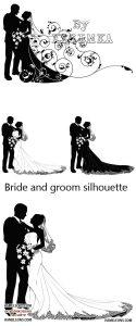 Картинка жених и невеста нарисованные 024