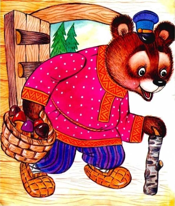 Картинка маша и медведь сказка