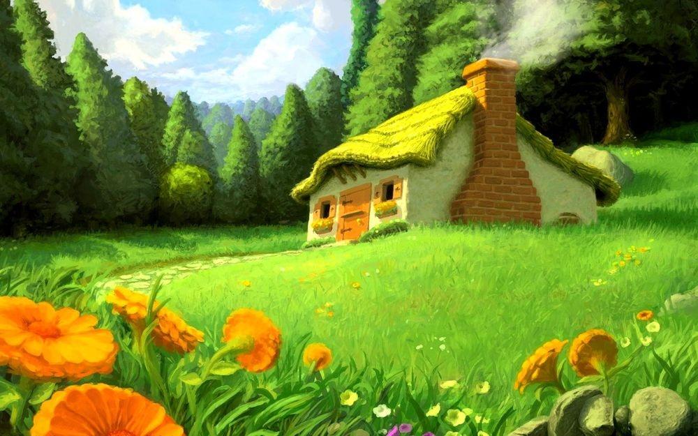 Картинка опушка леса для детей 001