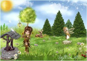 Картинка опушка леса для детей 027
