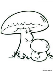 Картинка раскраска грибочки для детей 029