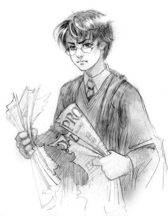 Студенту сентября, гарри поттер картинки для срисовки