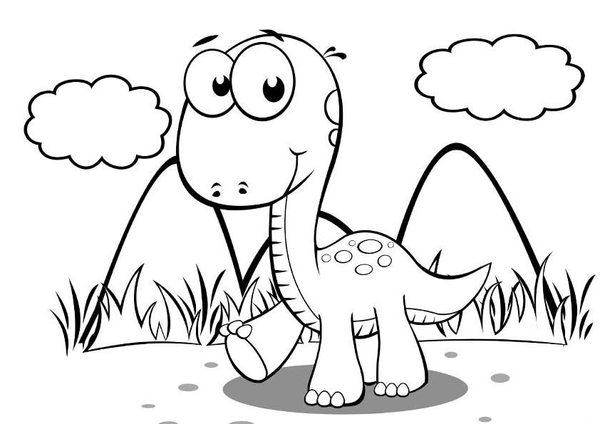Картинки динозавры для детей раскраски