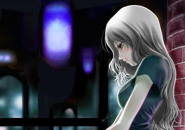 Картинки аниме грустные на аву для девушек013