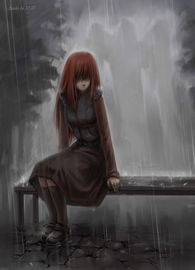 Картинки аниме грустные на аву для девушек015