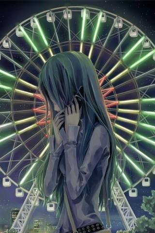 Картинки аниме грустные на аву для девушек018