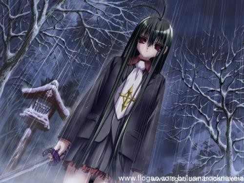 Картинки аниме грустные на аву для девушек021