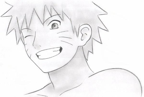 Картинки аниме для срисовки карандашом   рисунки022