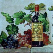 Картинки вино и виноград для декупажа027