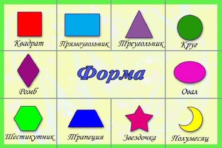 Картинки геометрические фигуры для малышей