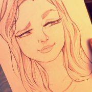 Картинки девушек для срисовки карандашом   подборка023
