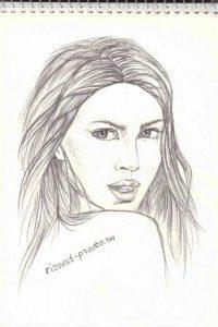 Картинки девушек лица нарисованные028