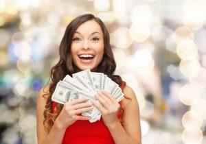 Картинки девушка с деньгами 025