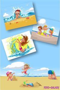 Картинки детей на отдыхе летом   подборка 020