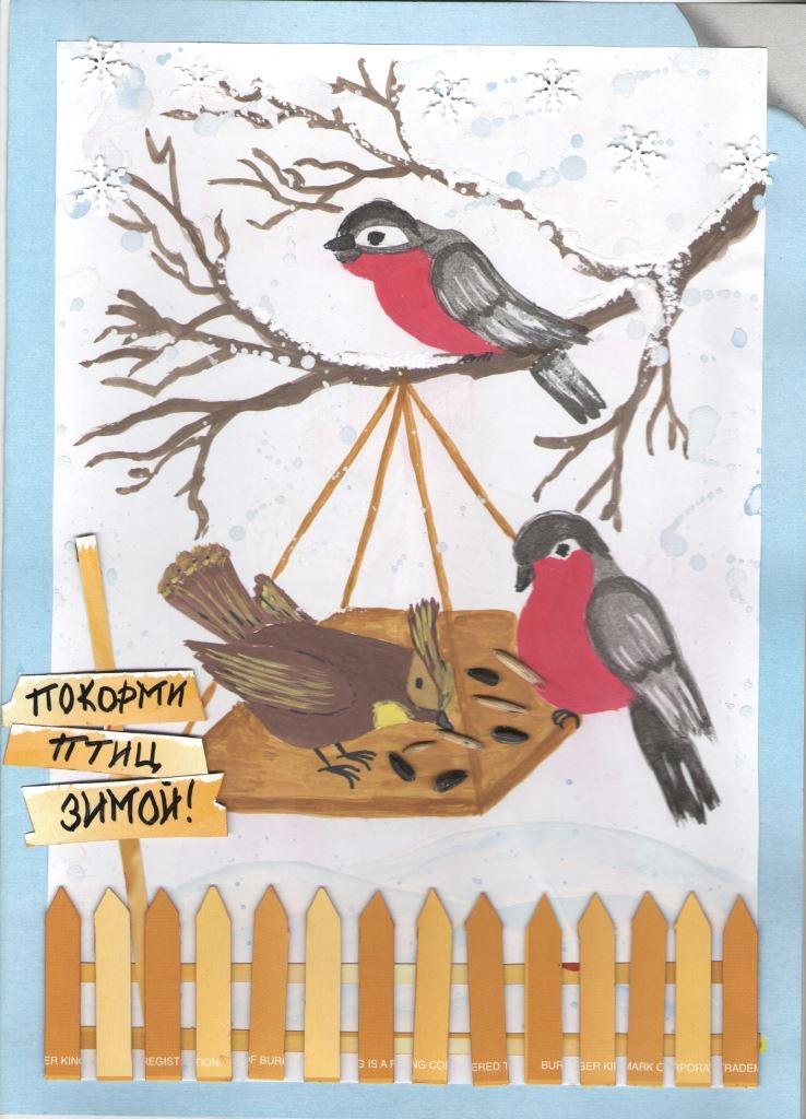 Картинки покормите птиц зимой для детей