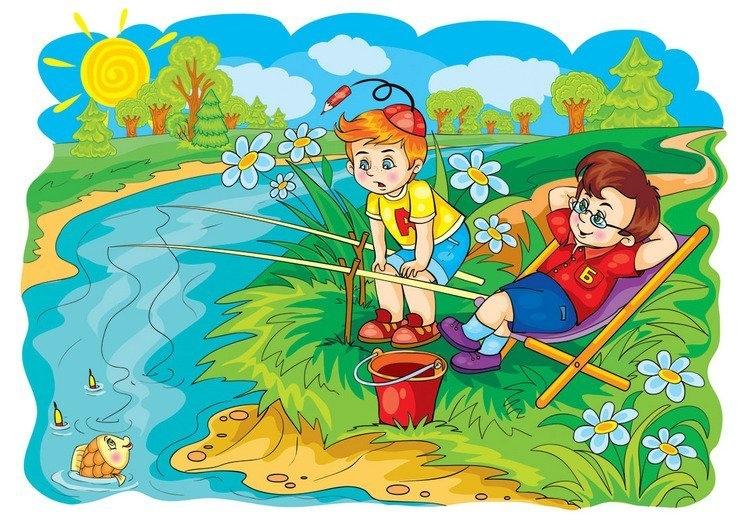 Картинки надписями, картинки для детей лето дети