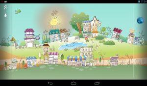 Картинки для детей нарисованные город 023
