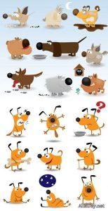 Картинки для детей нарисованные собаки 023