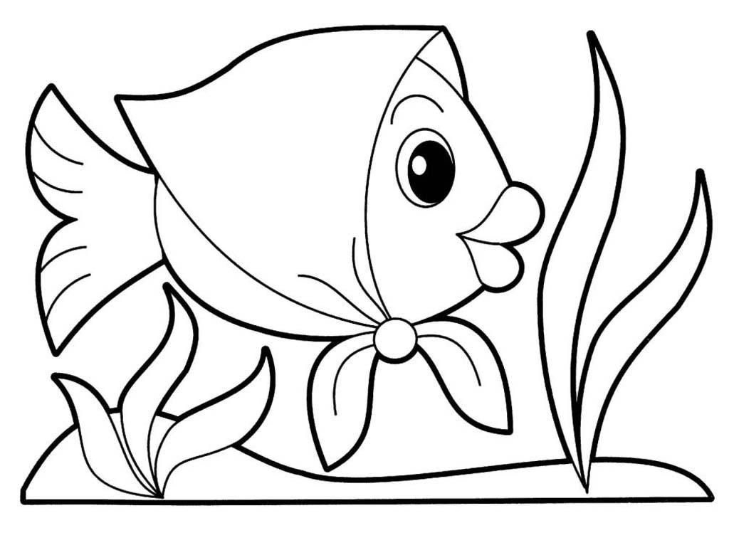 Картинки а4 для печати рыбка