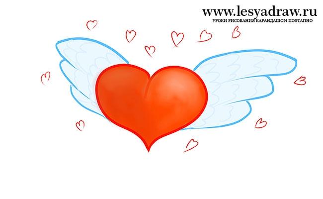 Картинки для детей сердце человека   рисунки 022