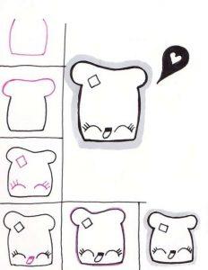 Картинки для личного дневника карандашом для девочки (15)