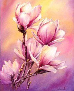 Картинки для рисования цветы очень красивые 024