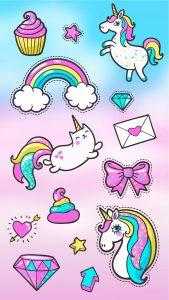 Картинки для срисовки Единороги милые на кексы (21)