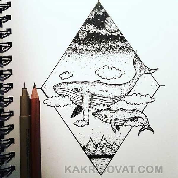 Картинки для срисовки в скетчбук.   красивые изображения 003