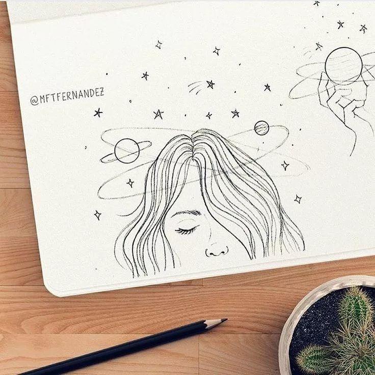 Картинки для срисовки в скетчбук.   красивые изображения 005