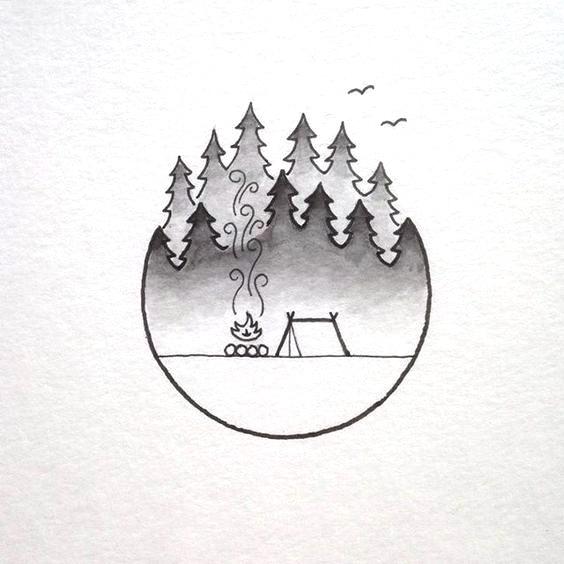 Картинки для срисовки в скетчбук.   красивые изображения 014