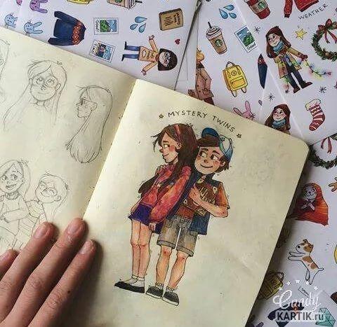Картинки для срисовки в скетчбук.   красивые изображения 015