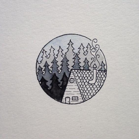 Картинки для срисовки в скетчбук.   красивые изображения 023