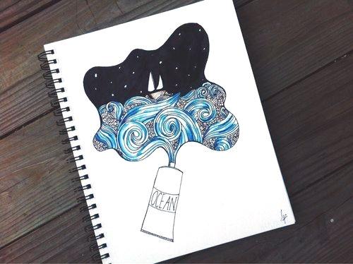 Картинки для срисовки в скетчбук.   красивые изображения 027