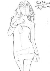 Картинки для срисовки девушки в полный рост   подборка (29)