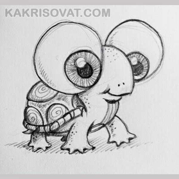 Картинки для срисовки животных легкие и простые 004