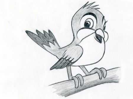 Картинки для срисовки животных легкие и простые 015