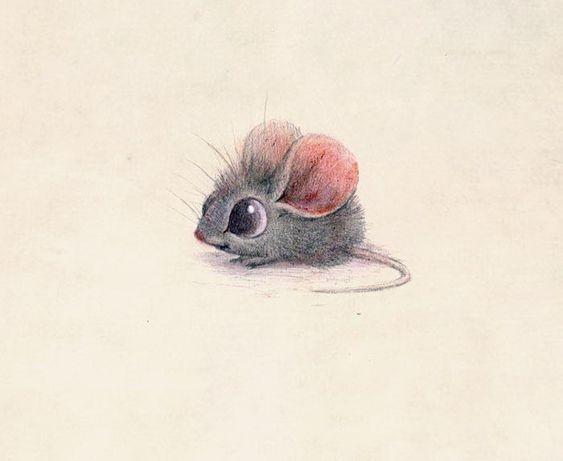 Картинки для срисовки животных легкие и простые 018
