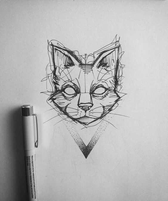 Картинки для срисовки животных легкие и простые 019