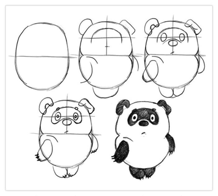 Картинки для срисовки животных легкие и простые 021