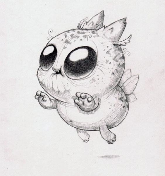 Картинки для срисовки животных легкие и простые 028